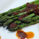 Asparagus with Tomato Pesto Dressing