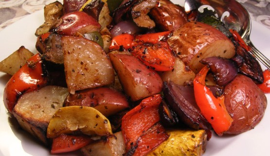 Mediterranean Pan Roasted Vegetables