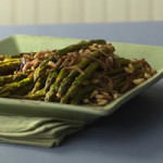 Young Asparagus with Prosciutto and Pine Nuts