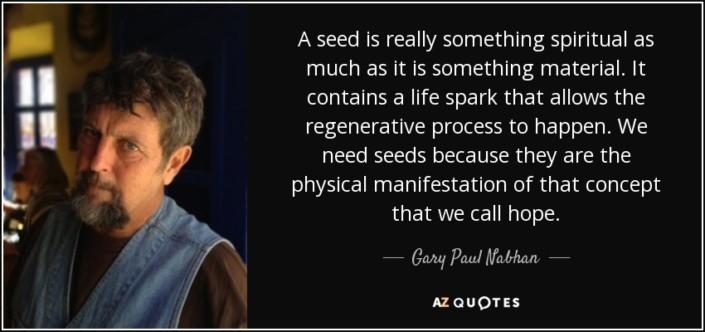 Gary Nabhan Seed Quote