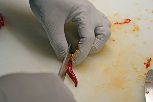 Removing Seeds and Veins from Chiles
