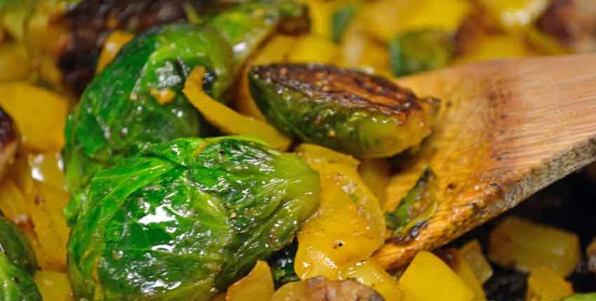 Caramelized Brussels Sprouts-Closeup