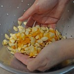 Cleaning Pumpkin Seeds
