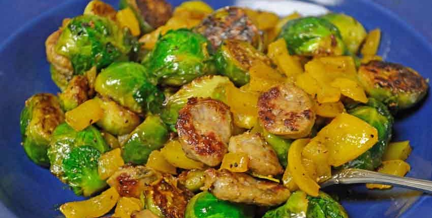 Plated Roasted Brussels Sprouts