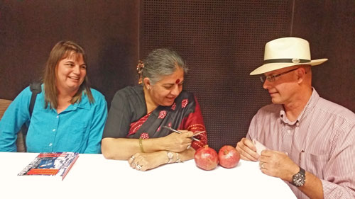 Vandana-Shiva with Cindy and Stephen