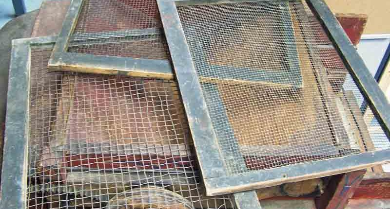 Antique Seed Cleaner Screens