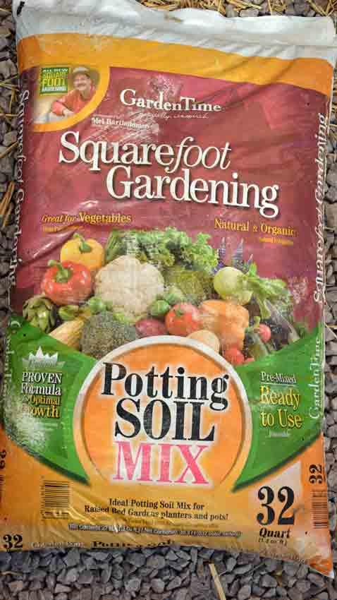Square Foot Potting Soil