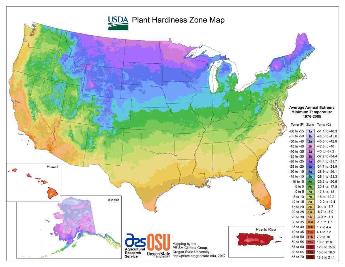 Charmant US Gardening Zones