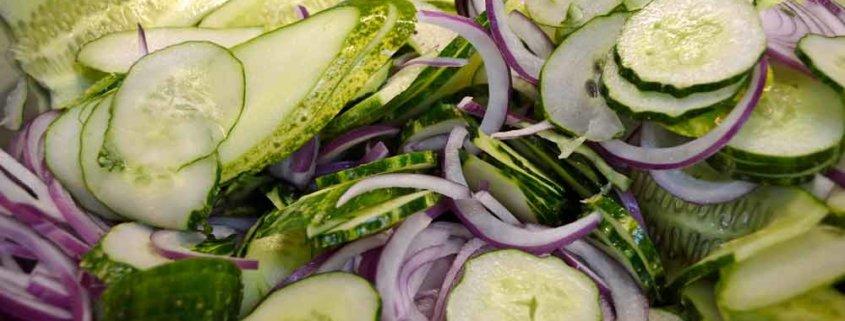Lime-Mint Freezer Pickles Ready for Salt