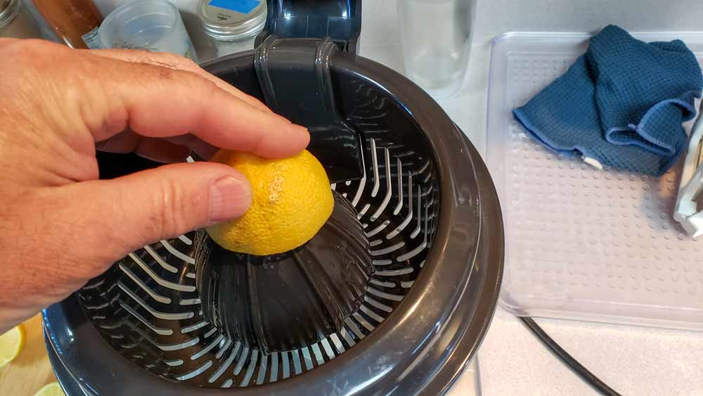 Juicing Lemons for Preserving