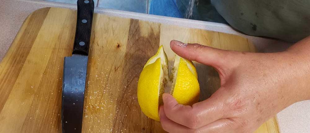Salting Lemons for Preserving