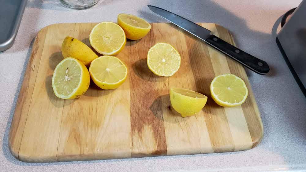 Sliced Lemons for Juicing