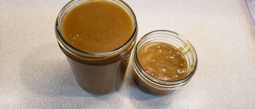 Butterscotch Bourbon salted caramel sauce