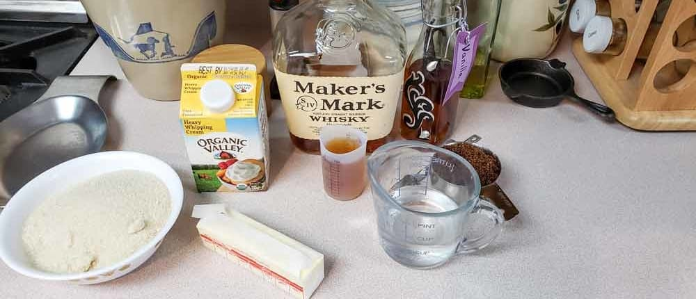Ingredients for caramel sauce